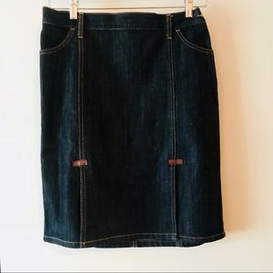 GAP Pencil Denim  Skirt With Double Front Splits